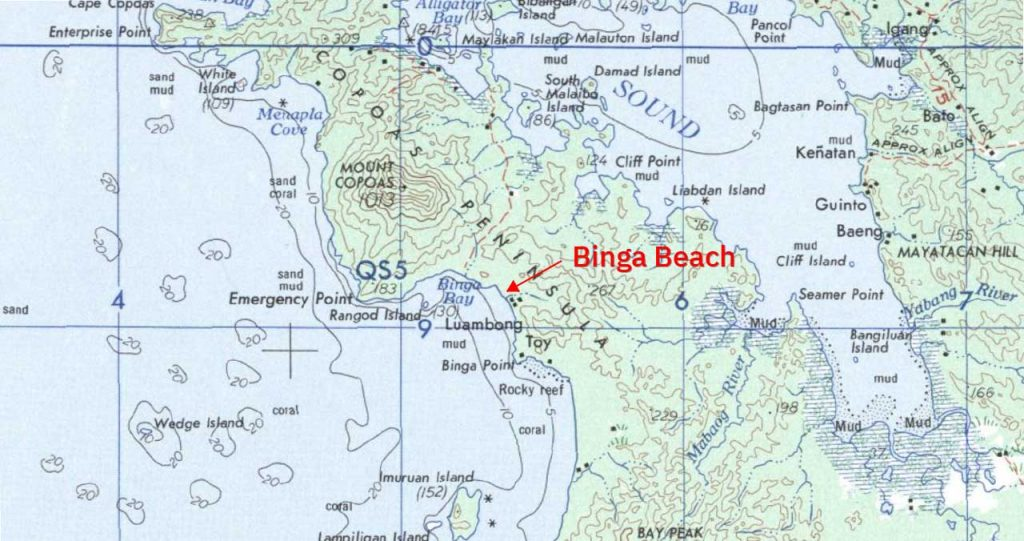 binga-beach-on-the-map